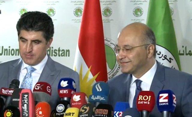 برهم صالح نامزدی خود برای پست ریاست جمهوری عراق را تکذیب کرد